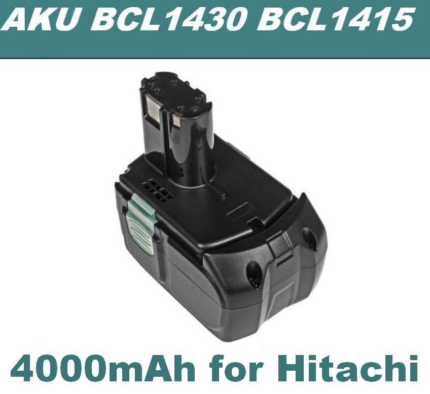 AKU Baterie Hitachi BCL1415, BCL1430, BCL 1415, 327729, 327728 14,4V 4000mAh Li-Ion