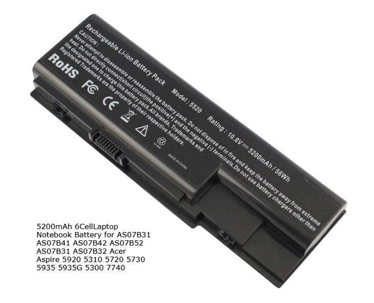 Baterie AS07B41, AS07B31 pro Acer Aspire 5310, 5520G, 5530G, 5920G 5200mAh