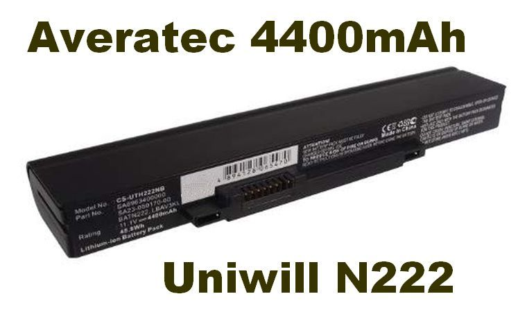 Baterie do notebooku Averatec, Uniwill N222 4400mAh