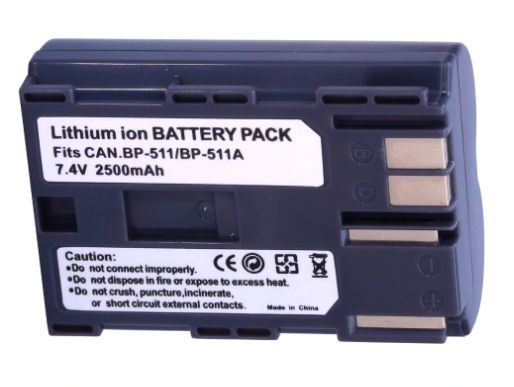 Baterie Canon BP-511, BP-508 2500mAh Extreme Capacity
