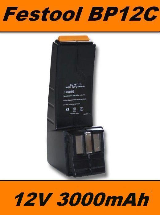 AKU Baterie BP12C pro Festool CCD12, CDD12 Ni-MH 12V 3000mAh