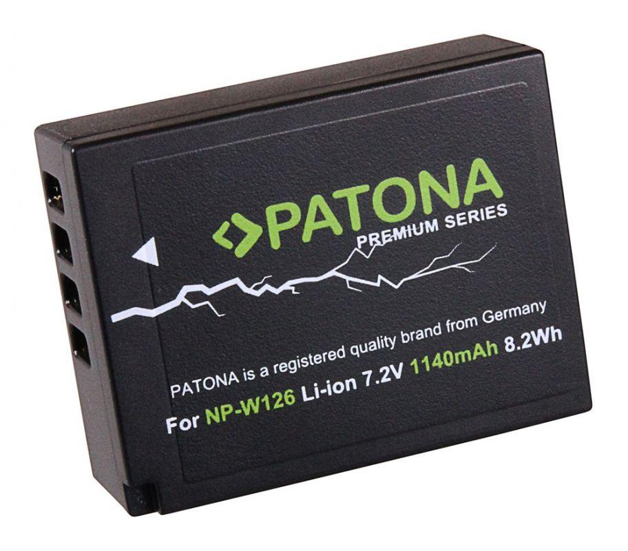 Baterie Fuji NP-W126 PROFI 1140mAh nahrazuje ORIGINÁL