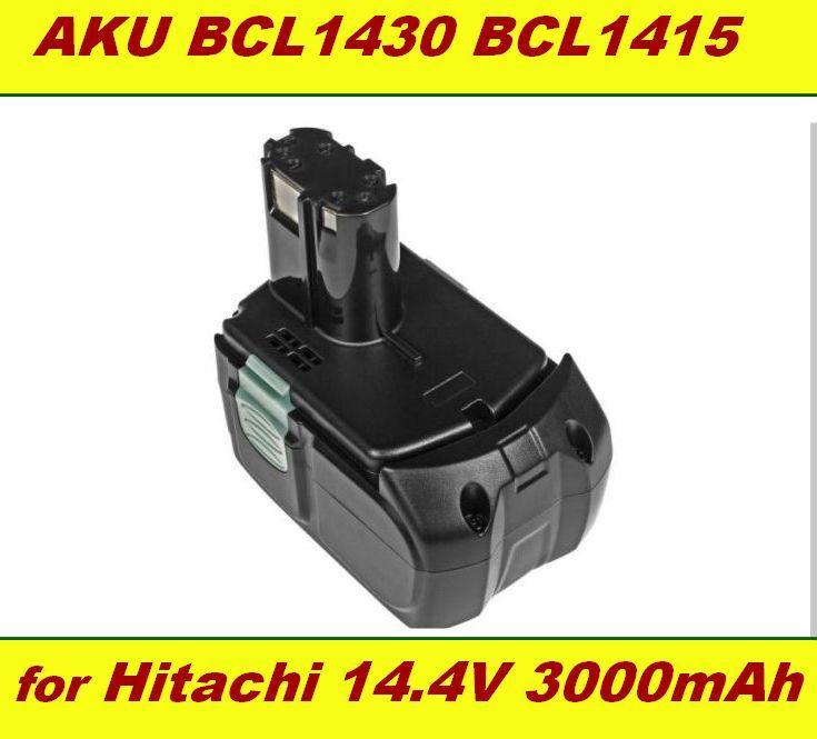 AKU Baterie Hitachi BCL1415, BCL1430, BCL 1415, 327729, 327728 14,4V 3000mAh