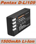 Baterie Pentax D-Li109 1500mAh neoriginální