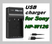 USB Nabíječka baterie FUJI FujiFilm NP-W126 flexibilní, nahrazuje ORIGINÁL