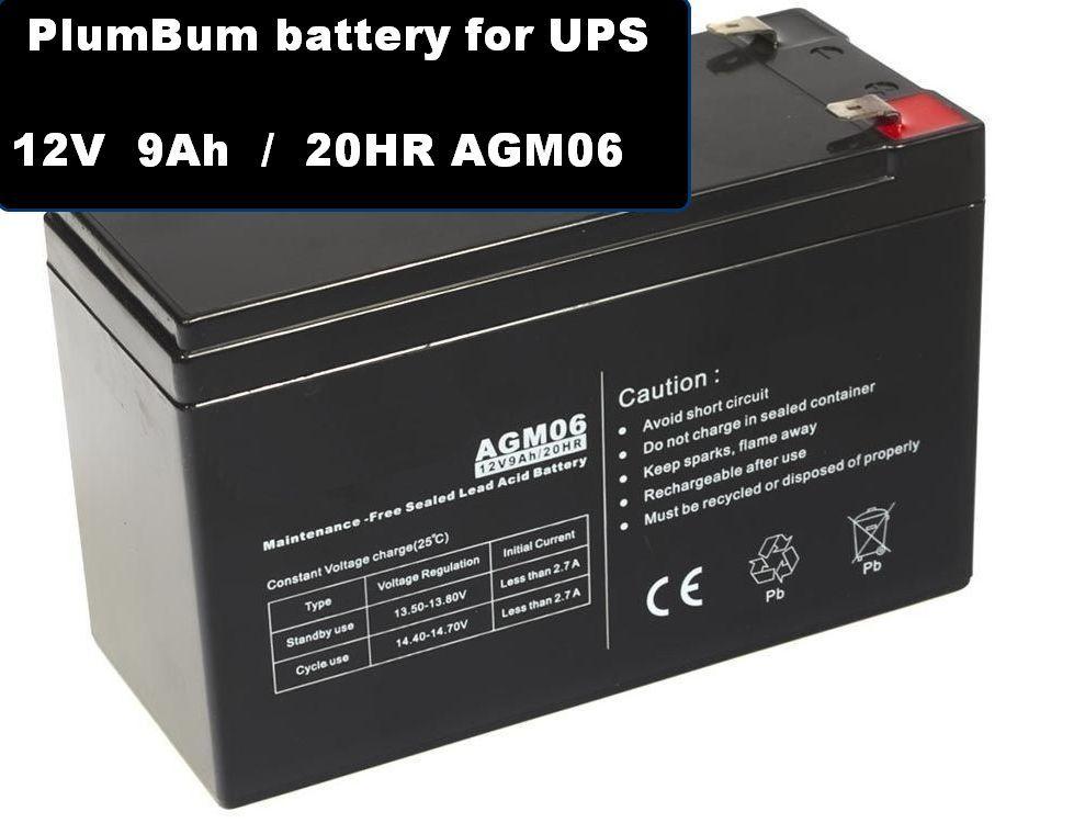 Olověná baterie pro UPS 12V 9Ah