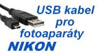 USB kabel 8 pin pro fotoaparát NIKON