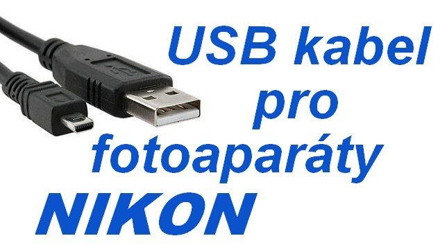 USB kabel 8 pin pro fotoaparáty NIKON