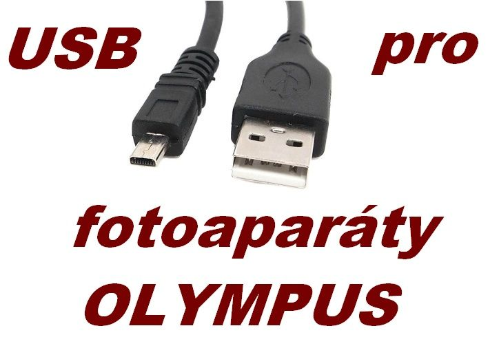 USB kabel pro fotoaparáty Olympus, originál označení CB-USB7