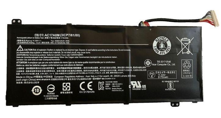 Baterie AC17A8M do notebooku Acer Spin 3 SP314-52 Series 5300mAh