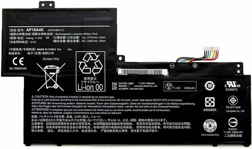 Baterie AP16A4K Acer Aspire One Cloudbook 11, Swift 1 3700mAh