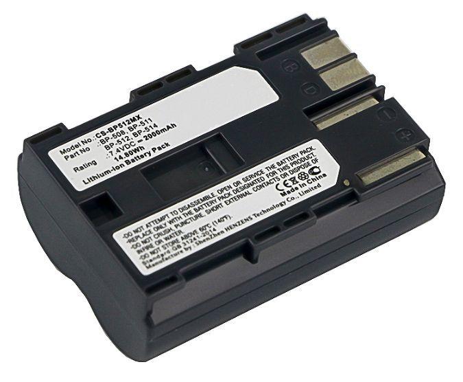 Baterie Canon BP-511, BP-508 2000mAh