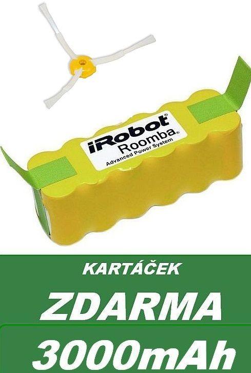 Baterie pro iRobot Roomba 510, 530, 535, 540, 555, 560, 562, 564, 570, 581, 610 3000mAh neoriginální