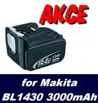Baterie Makita BL1430, 194065-3, 194066-1 3000mAh Li-Ion 14,4V neoriginální