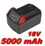 Baterie Milwaukee 2611, 2630, 2650, 0880-20, 2601, 2610, 2620 5000mAh 18V Li-Ion neoriginální