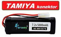 Baterie pro RC modely - 5000mAh 7,2V Ni-MH konektor TAMIYA