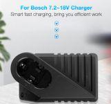 Nabíječka baterie Bosch Ni-MH, Ni-CD s napětím 7,2V - 18V neoriginální