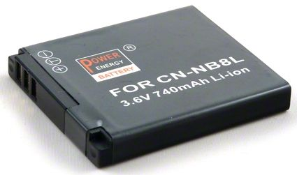 Baterie Canon NB-8L - 850 mAh Power Energy Battery