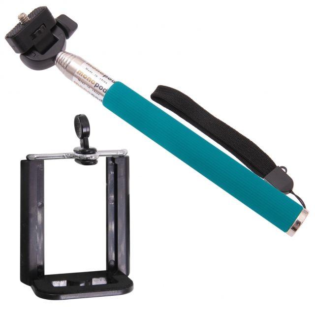 Držák - tyč pro focení selfie - modrý Aligator