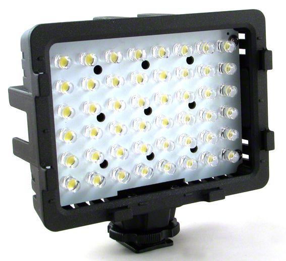 Přídavné LED světlo CN-48H k fotoaparátu, nebo videokameře Power Energy Mobile