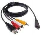 AV audio video propojovací USB kabel pro Sony Cyber-shot VMC-MD3