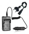 2 v 1 nabíječka baterie Panasonic DMW-BCF10, DMW-BCF10E, DMW-BCK7E, DMW-BCF10GK, NCA-YN101F, NCA-YN1