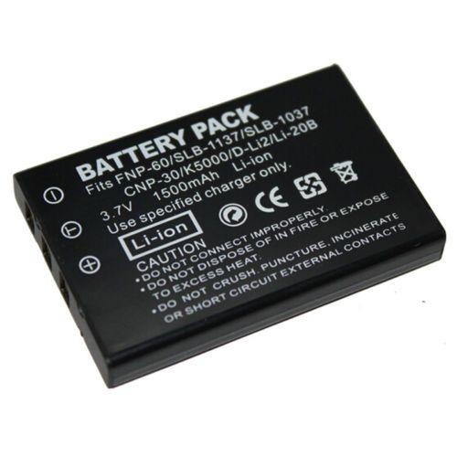 Baterie Fuji NP-60, Olympus LI-20B, Panasonic CGA-S302A, VW-VBA21, Pentax D-Li2 1150mAh