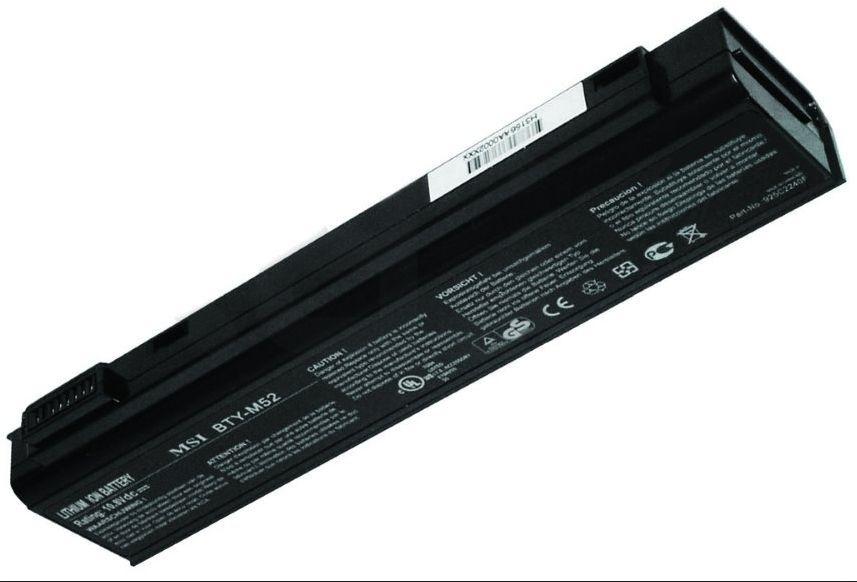 BTY-M52 baterie do notebooku MSI MegaBook L710/L720/L730/M520 Li-Ion 10,8V 5200mAh