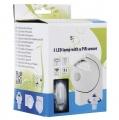 Noční LED světlo s pohybovým PIR čidlem - 3x AA baterie , 5 LED