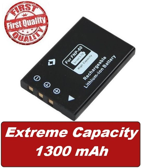 Baterie NP-60, KLIC-5000, NP-30, SLB-1137, DB40, Li-20B  1300mAh