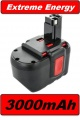 Baterie Bosch BAT030, BAT031, BAT240, BAT299, BTP1005, B-8230 3000mAh 24V Ni-MH neoriginální