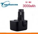 Baterie Black & Decker PS130, A9252, A9275, A9266, PS130A, FS12 3000mAh 12V Ni-MH neoriginální
