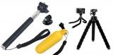 3 v 1 teleskopická selfie tyč, plovák a stativ pro sportovní kameru GoPro Hero a jiná zařízení