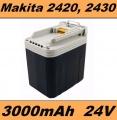 Baterie Makita 2420, 2430 do BML240, BHP460, BDF460, BHR200, BJR240 3000mAh 24V Ni-Mh neoriginální