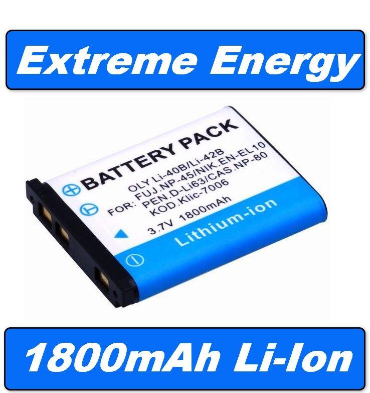 Li40B1800 Baterie 1800mAh pro Olympus Li-40B, Li-42B, D-Li63, Nikon EN-EL10 neoriginální