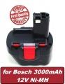 Baterie Bosch BAT043, BAT045, BAT046, BAT049, BAT120, BAT139 12V 3000mAh Ni-MH neoriginální