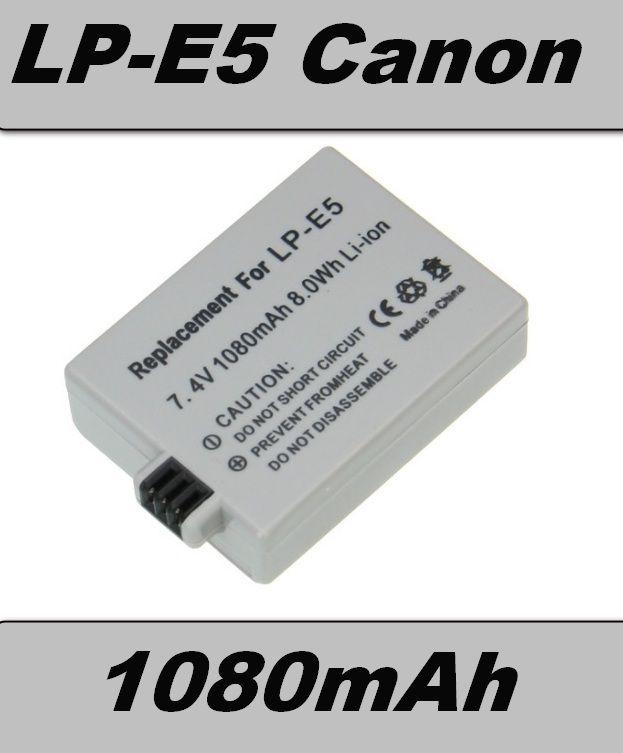 Baterie Canon LP-E5 1080mAh Li-Ion 7,4V
