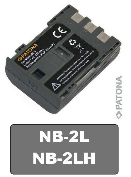 Baterie Canon NB-2LH, BP-2LH, BP-2L5 PowerShot S30 S40 S45 S50 S60 570mAh Li