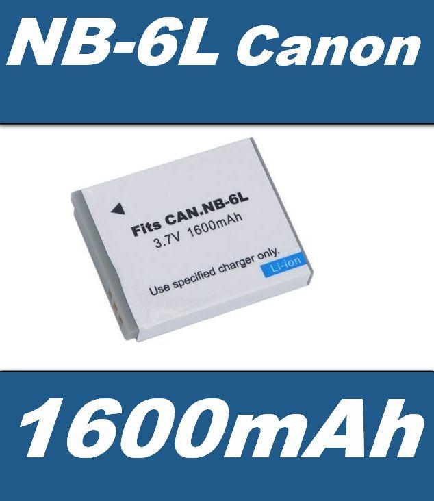 Baterie NB-6L do fotoaparátu Canon 1600mAh Li-Ion 3,7V neoriginální