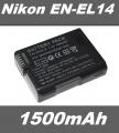 Baterie EN-EL14 1500mAh pro Nikon D3100, D3200, D5100, D5300, Coolpix P7000, P7100 neoriginální