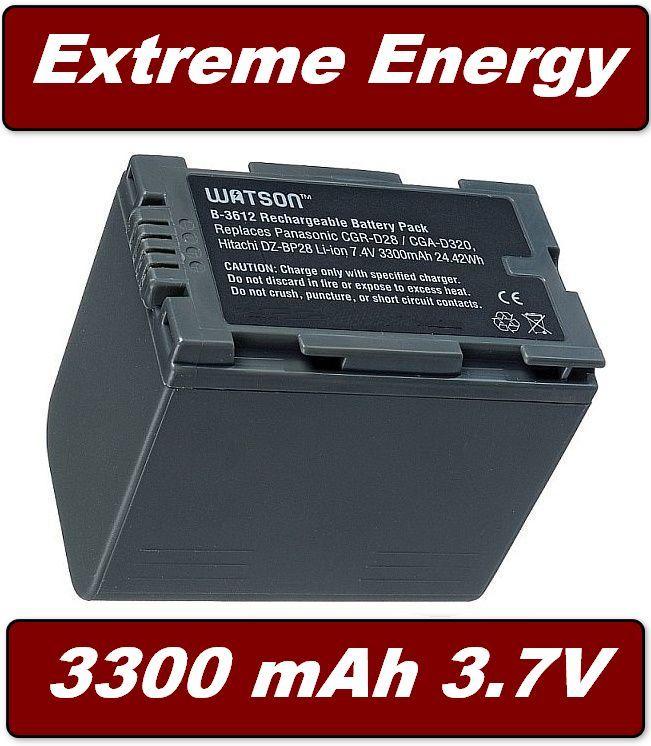 Baterie Hitachi DZ-BP14, DZ-BP16, Panasonic CGR-D220, CGR-D320 3300mAh Li-Ion neoriginální