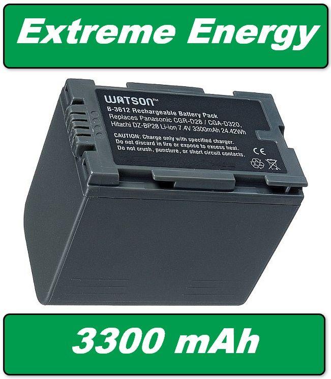 Baterie Panasonic CGR-D220, CGR-D320 - 3300mAh neoriginální