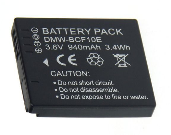 Baterie Panasonic DMW-BCF10, DMW-BCF10E, CGA-S/106C 940mAh