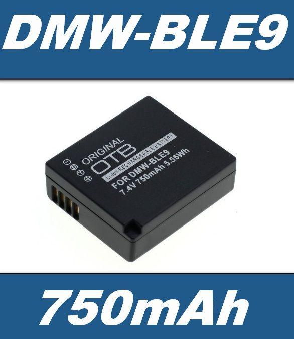 Baterie PanasonicDMW-BLE9, DMW-BLE9E, Leica BP-DC15 750mAh Li-Ion neoriginální