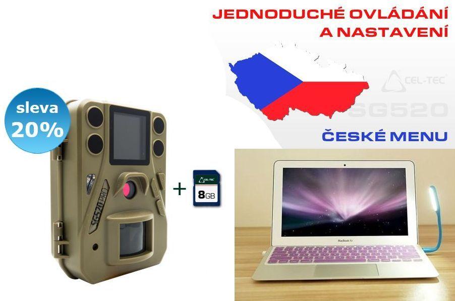 Fotopast ScoutGuard SG520 + 8GB pam. karta + USB LED svítilna ZDARMA