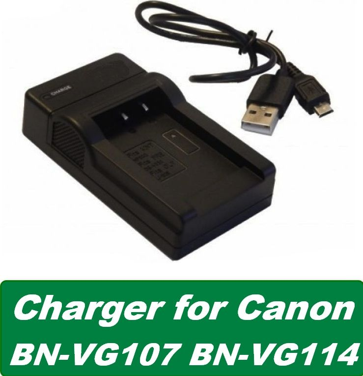 Nabíječka baterie JVC BN-VG107, BN-VG114, BN-VG121, BN-VG138 USB neoriginální