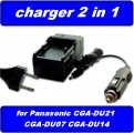 PT1603IX Nabíječka baterie Panasonic CGR-DU06, CGA-DU07, CGR-DU07, CGA-DU12, CGA-DU14, neoriginální