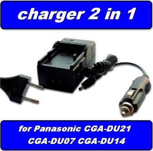 Nabíječka baterie Panasonic CGR-DU06, CGA-DU07, CGR-DU07, CGA-DU12, CGA-DU14, neoriginální