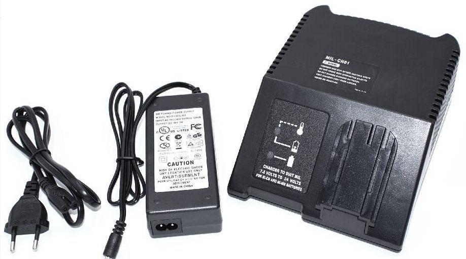 Nabíječka pro AKU nářadí a nástroje AEG, Milwaukee rozsah 7,2V-24V kompaktní