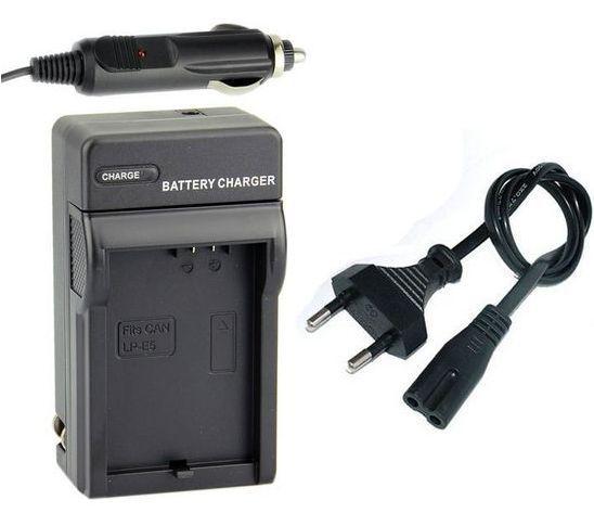 2 v 1 nabíječka baterie LP-E5, LPE5 pro fotoaparát Canon EOS